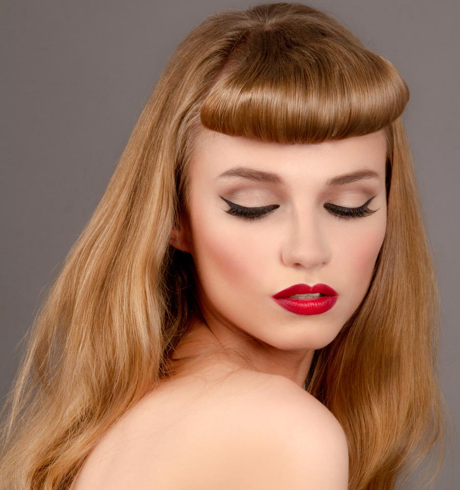 Fashion Film and TV vintage 1940s hair and makeup